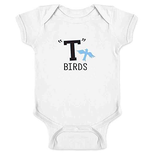 (T Birds Gang Logo Costume Retro 50s 60s White 6M Infant)