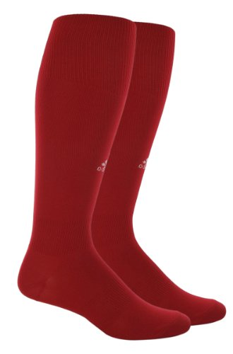 adidas Boy's Metro III Soccer Sock (University Red/White, Small: Youth shoe Size 13C-4Y)