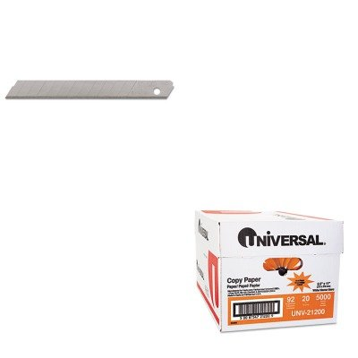 KITBOS11300UNV21200 - Value Kit - Stanley-Bostitch Quick Point Snap-off Knife Blade (BOS11300) and Universal Copy Paper (UNV21200)