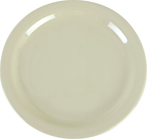 "Carlisle 4385206 Dayton Melamine Dinner Plates, 9"", Oatmeal (Set of 48)"