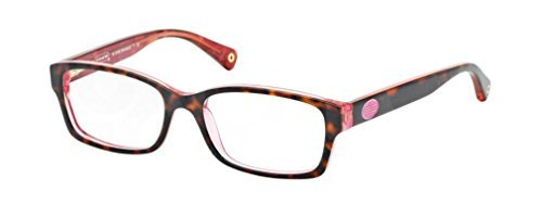 Coach Womens TortoisePink FrameDemo Lens Oval 52MM Non-Polorized Eyeglasses