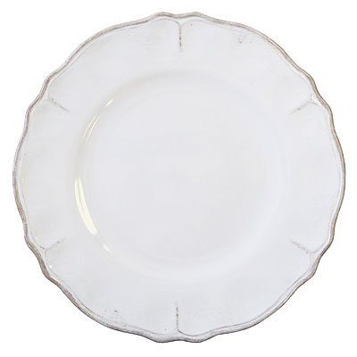 Le Cadeaux Rustica Antique White - Melamine Dinner Plates - Set of 8