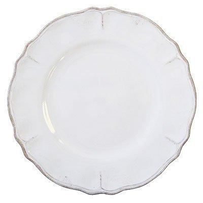 Le Cadeaux Rustica Antique White - Melamine Dinner Plates - Set of 8 (White Melamine Dinnerware)