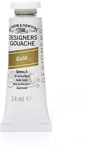 Winsor & Newton Designers' Gouache (Gold) | 14 ml 1 pcs sku# 1874673MA (Winsor & Newton Designers Gouache)