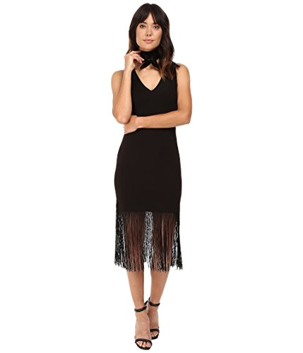 long black fringe dress - 7
