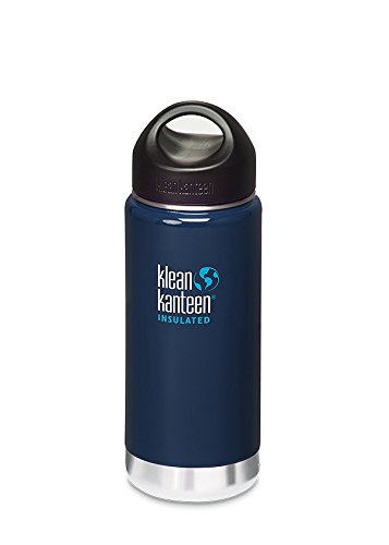 Klean Kanteen 16 Ounce Wide Insulated Stainless Steel Bottle With Loop Cap