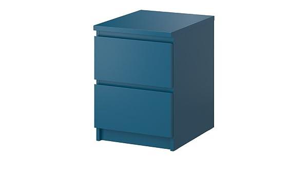 IKEA MALM - Cómoda de 2 cajones, turquesa - 40x55 cm: Amazon ...