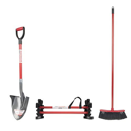 Root Assassin ( Set #1 Set of 3 Items: Broom, Caddy, 43'' Shovel - Yard Tools. Best for Gardening, Sweeping, Landscaping, and Yard Work. Garage Tool Organizer. by Root Assassin