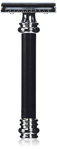 Merkur Heavy Duty Long Handled Barber Pole Safety Razor, Bla