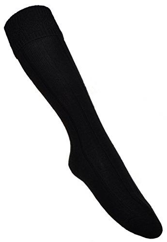 Lovat Schwarze KILT Socke- Vielzahl an Größen erhältlich