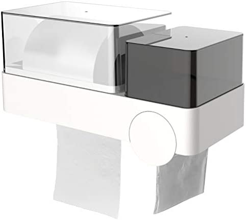 防水トイレットペーパーホルダー、ゴミ袋生理用ナプキン多機能収納ラックポータブルトイレットペーパーホルダー、バスルームキッチン用