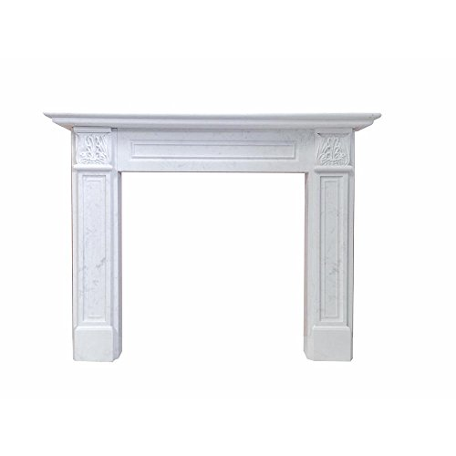 - Nature and Designs Springfield 63 in. x 50 in. Calacatta Engineered Marble Mantel