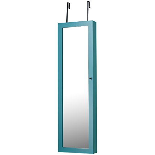 Decor Space Saver - FirsTime & Co. Mirrored Jewelry Armoire, Turquoise