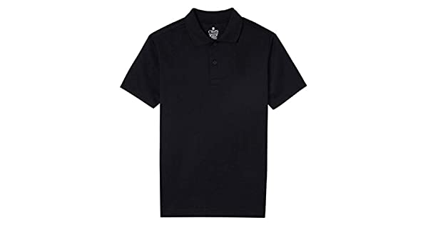 578437bb6 Amazon.com  Chaps Boys Performance Polo (Medium (10 12)) Black  Clothing
