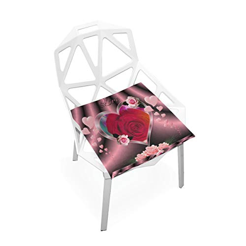 Pingshoes Seat Cushion Beautiful Love Wallpaper Chair Cushion Offices Butt Chair Pads Square Wheelchairs Mat for Outdoors