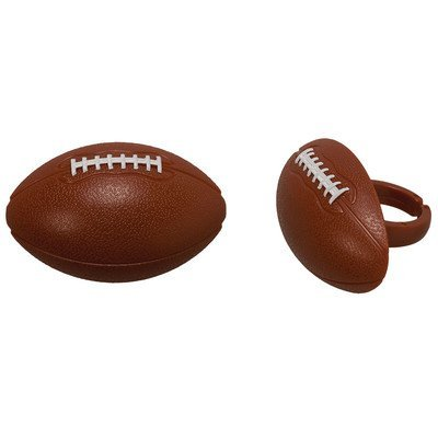 Football Cupcake Rings - 24 pc by Bakery Supplies
