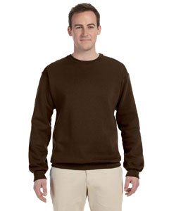 (Jerzees mens 8 oz. 50/50 NuBlend Fleece Crew(562)-CHOCOLATE-XL)