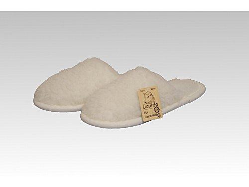 Pantoffel Wolle ecru 36/37