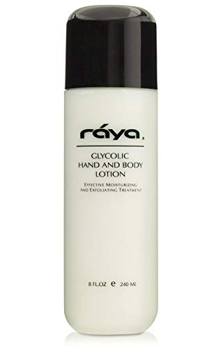 RAYA Glycolic Hand and Body Lotion with AHA (G-333) | Soothing, Moisturizing, Exfoliating, and Conditioning Lotion for the Hands, Arms, Legs, and Body | Made with Alpha Hydroxy Acids