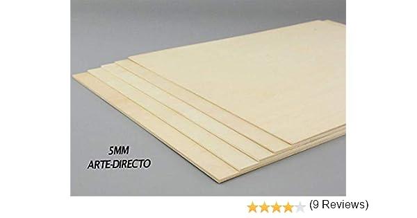 Fabricados en Espa/ña CONTRACHAPADO Fen/ólico Tableros de Madera Espesor 5mm A5 Cortados a Medida , 5 Calidad Profesional.