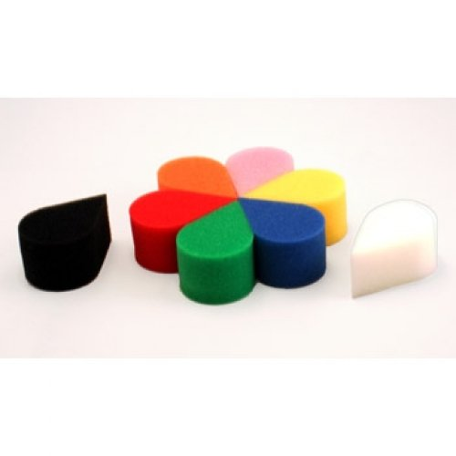 Ruby Red Paint, Inc.  - Face Painting Petal Sponge 8 Pack - 8 Mixed Colors -