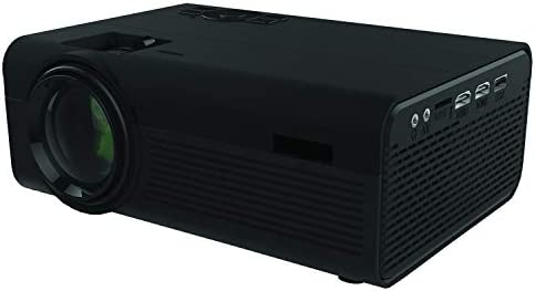 SuperSonic SC-80P HD Video Projector with Built-in Speakers: Compatible with USB, Micro SD, VGA, and HDMI | Home Entertainment System for Movies, TV, and Games!