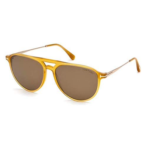 gelb Tom Sonnenbrille glanz FT0587 Ford 08gc8nqO