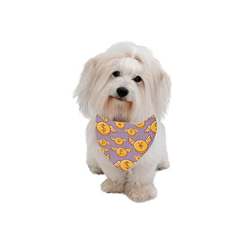 WUwuWU Dog Scarf Wings Colorful Hand Drawn Creative Printing Dog Bandana Triangle Kerchief Bibs Accessories for Large Boy Girl Dogs Cats Pets Birthday Party Gift ()