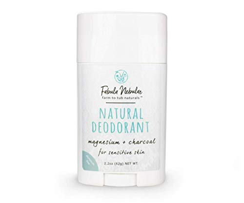 (Magnesium and Charcoal Natural Deodorant for Sensitive Skin | Hypoallergenic, Aluminum Free | 2.6 oz Stick)