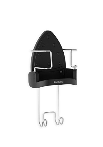 Brabantia Exasperate-Mounted Iron Rest and Hanging Ironing Board Holder - Cool Gray, 385742