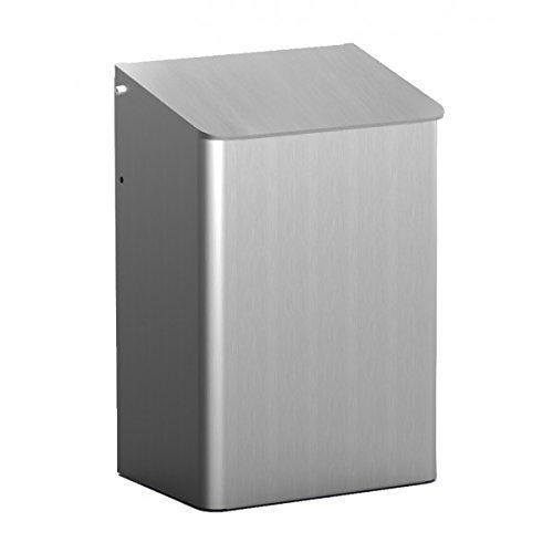MEDIQO-LINE Abfallbehälter zur Wandmontage 15 Liter, Farbe:Edelstahl