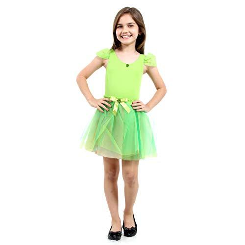 Bailarina Pop Infantil Sulamericana Fantasias Verde G 10/12 Anos