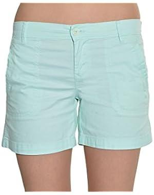 Womens Twill Shorts (Minty Glow)