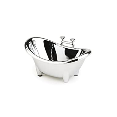 Umbra Muse Chrome-Plated Ring Holder, Bath Tub