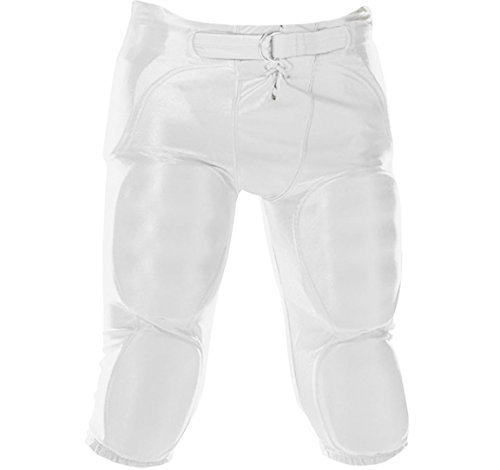 Pants Football Dazzle (MARTIN SPORTS INTEGRATED DAZZLE FOOTBALL PANTS-YOUTH-WHITE-XS)