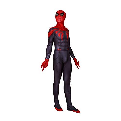 Unisex Lycra Spandex Zentai Halloween Superior Spider Man Cosplay Costume Adult/Kids 3D Style (Kids-XL) Red,Black -