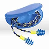 Honeywell FUS30-HP Fusion Multiple-Use Earplugs, Regular, 27NRR, Corded, Blue/White, 0.7'' Height, 0.7'' Width, 0.4'' Length