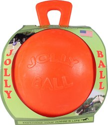 Horsemen S Pride 055111 Jolly Ball For Equine - Orange44; 10 in.