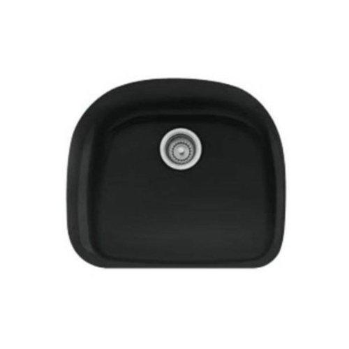 Franke PRK11021MB Prestige 21-Inch Single Bowl Undermount Fireclay Kitchen Sink, Matte Black