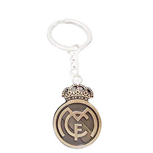 - Real Madrid Keychain Soccer Team Football Club Logo Metal Pendant keyring Keychain team crest (Real Madrid, 8.5CMX3CM)