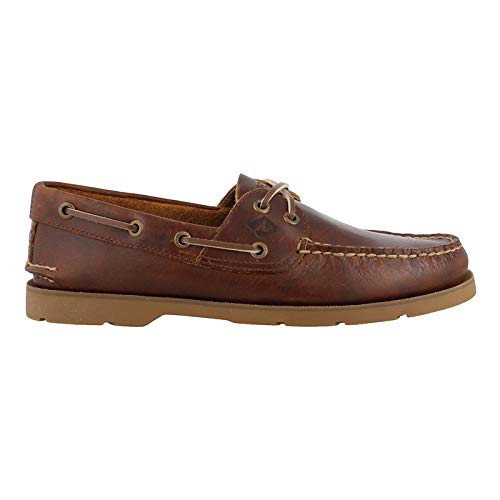 SPERRY Men's, Leeward X Lace Boat Shoe Yacht Club TAN 11 M
