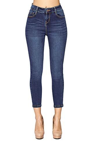 Blue Age Womens Butt-Lifting High Rise Skinny Jeans ,Jp1094a_medium Wash, 9