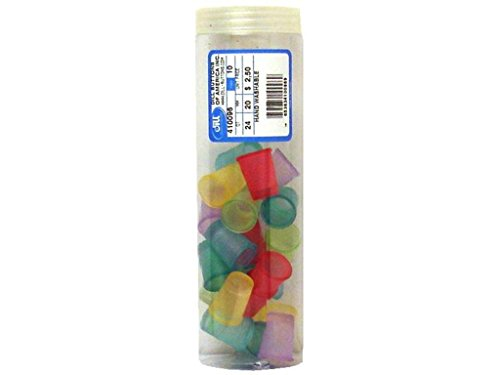 Dill Buttons of America DIL410096 24Piece Finger Armor Thimbles 20mm Multi Pastel Arts And Crafts ()