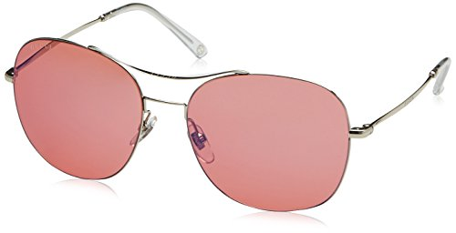 (Gucci Women's GG 4253/S Palladium/Pink Mirror Blue)