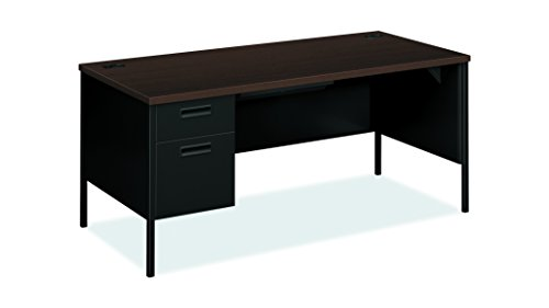 - HON Metro Classic Laminate Office Desk - Left Pedestal Desk with File Drawer