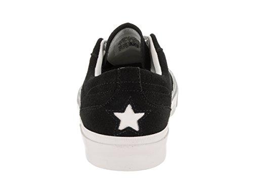Converse Unisexe Une Étoile Contre Ox Chaussure De Basket Noir / Blanc / Blanc