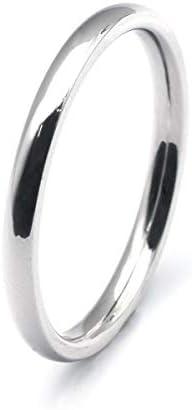 [ルビイ] ステンレス 甲丸 指輪(リング) 幅2.0mm 銀色 日本サイズ16号