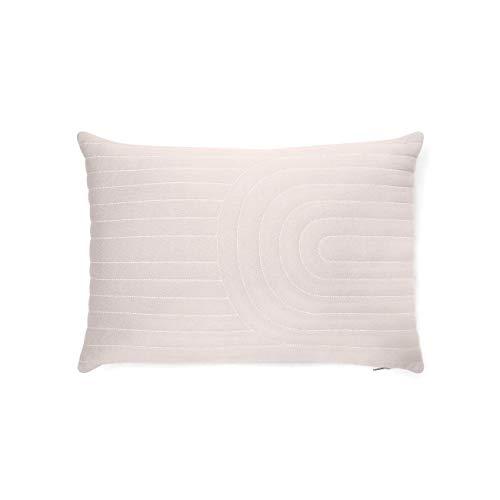Channel Stitch Quilt - Project 62 + Nate Berkus 100% Cotton Channel Quilt Stitch Lumbar Pillow Soft Light Gray (20