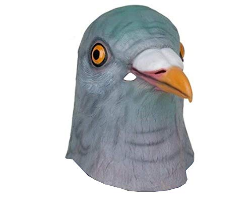 Fancy Dress Halloween Bird Head Mask Latex Pigeon Animal Cosplay Party Costume -