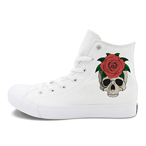 Womens 45 Spitzen White Outdoor Schuhe Liebhaber Fall New Schuhe Ladies Deck Help Neue Leinwand Schuhe Espadrilles Spring High Flache rrqSpC